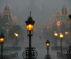 light, disneyland, and fog image