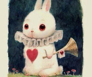 alice in wonderland, rabbit, and art image