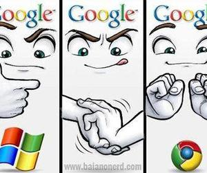 google, funny, and chrome image