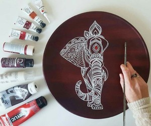 art, drawing, and elephant image