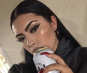 makeup, beauty, and baddie image