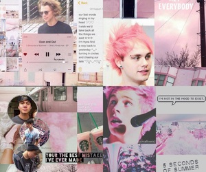Collage, pink, and 5sos image