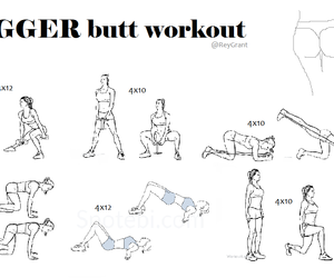 butt, exercise, and fitness image