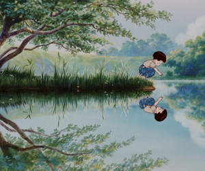 anime, scenery, and grave of the fireflies image