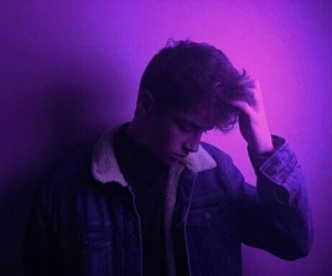 boy, purple, and aesthetic image