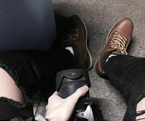 black, camera, and korean image