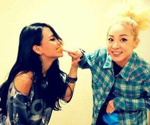 asian girls, blonde, and brunette image