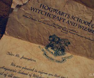 hogwarts, harry potter, and hogwarts letter image