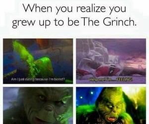 the grinch, funny, and meme image