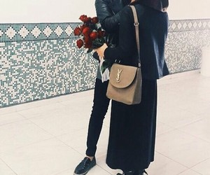 couple, love, and hijab image
