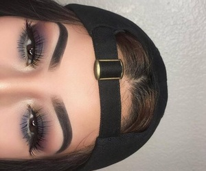 makeup, style, and eyebrows image