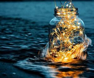 light, sea, and beach image