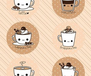 coffee, latte, and kawaii image