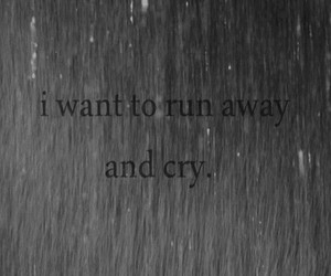 cry, sad, and run image