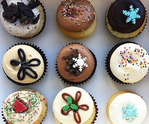 christmas, cold, and cupcakes image