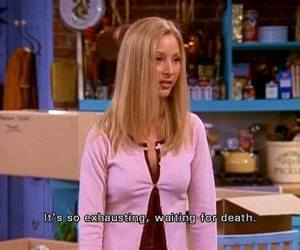 friends, phoebe, and death image