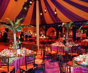 party, orange, and wedding image