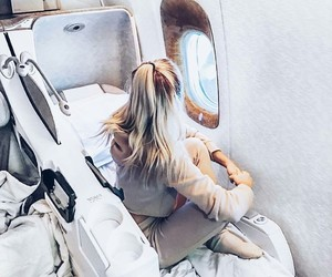 plane, travel, and outfit image