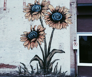 flowers, art, and sunflower image
