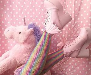 pink, unicorn, and platform boots image