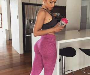 fitness, blonde, and girl image