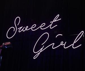 girl, neon, and sweet image