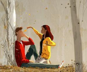 autumn, love, and art image