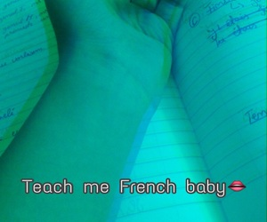 french, blurr, and teachme image