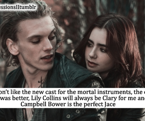 Jamie Campbell Bower, lily collins, and jace herondale image