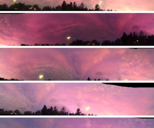 beautiful, pink, and sky image