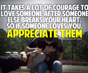 love, appreciate, and courage image