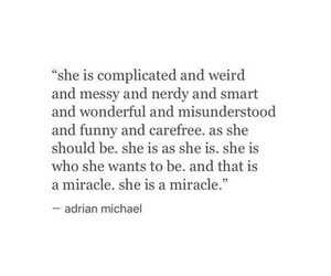 quote, carefree, and messy image