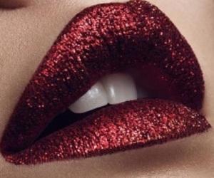 glitter, makeup, and lips image