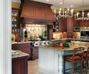 kitchen, interior, and kitchen cabinets image