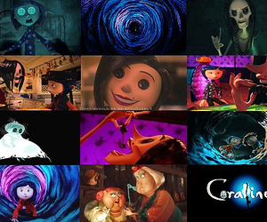 coraline, cat, and doll image