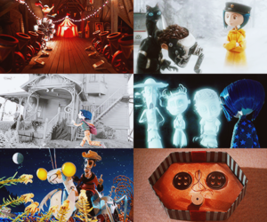 cat, coraline, and doll image