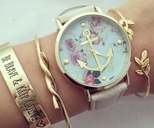 watch, bracelet, and anchor image