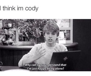 alone, happy, and cody image