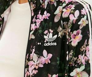 adidas, flowers, and jacket image