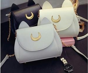 cat, bag, and handbag image