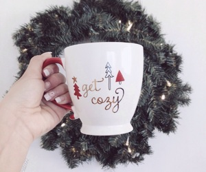 christmas, girl, and mug image