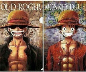 one piece, monkey d. luffy, and gol d roger image