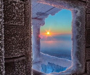 atardecer, invierno, and naturaleza image