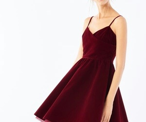 beauty, red, and dress image