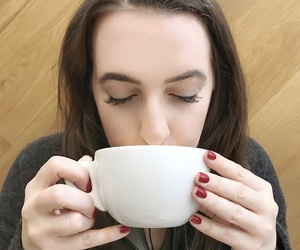 blogger, brunette, and coffee image
