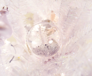 bauble, pink, and christmas image