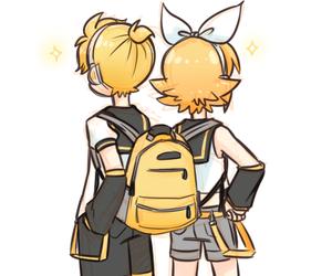 anime, bag, and blond image