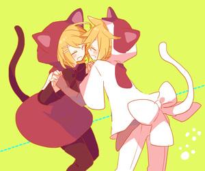 cat, neko, and vocaloid image