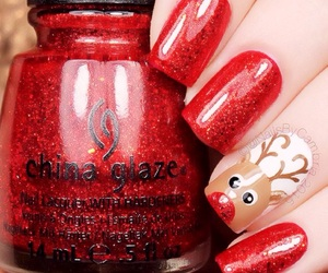 christmas, holiday, and nail art image