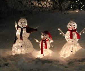 snow, christmas, and light image